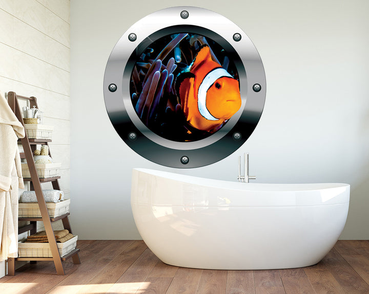 Clown Fish Bathroom Decal Vinyl Wall Sticker Q683