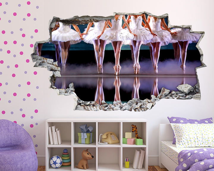 Ballet Dancing Girls Bedroom Decal Vinyl Wall Sticker Q695