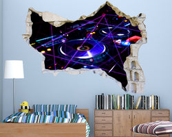 Music Beats Boys Bedroom Decal Vinyl Wall Sticker Q708