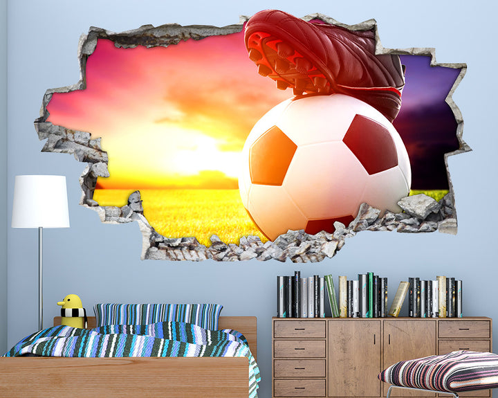 Football Boot Boys Bedroom Decal Vinyl Wall Sticker Q725
