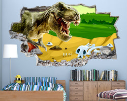 Dinosaur Bones Boys Bedroom Decal Vinyl Wall Sticker Q734