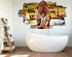 Cheetah Savannah Bathroom Decal Vinyl Wall Sticker Q736