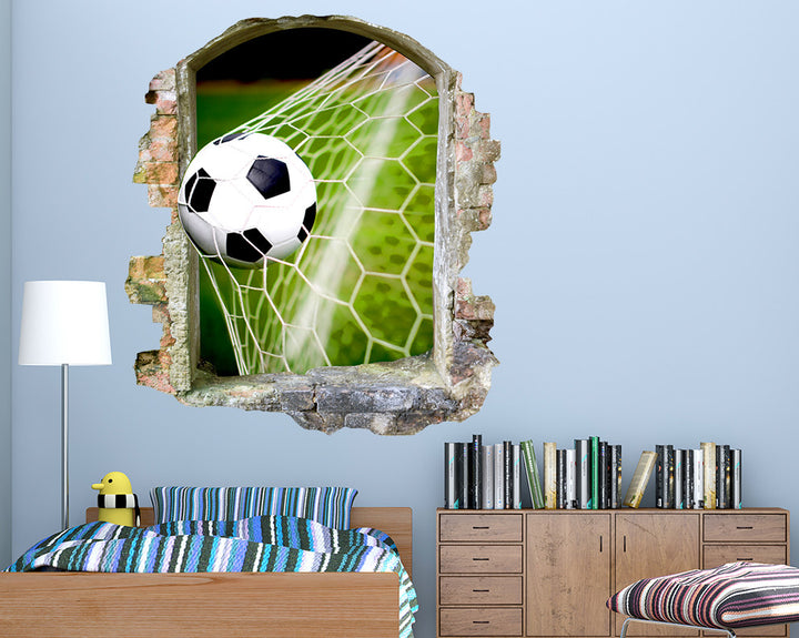 Football Net Goal Boys Bedroom Decal Vinyl Wall Sticker Q754
