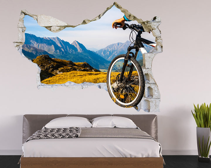 Mountain Biking Scenic Bedroom Decal Vinyl Wall Sticker Q758