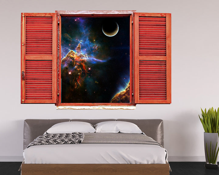 Space Star Galaxy Bedroom Decal Vinyl Wall Sticker Q774