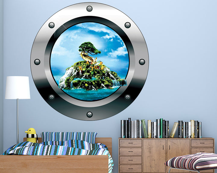 Nature Island Cool Boys Bedroom Decal Vinyl Wall Sticker Q780