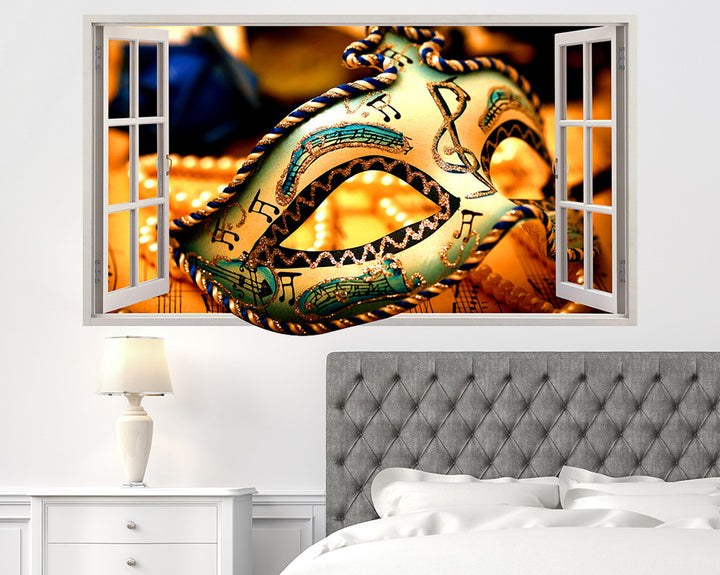 Play Theatre Mask Bedroom Decal Vinyl Wall Sticker Q788