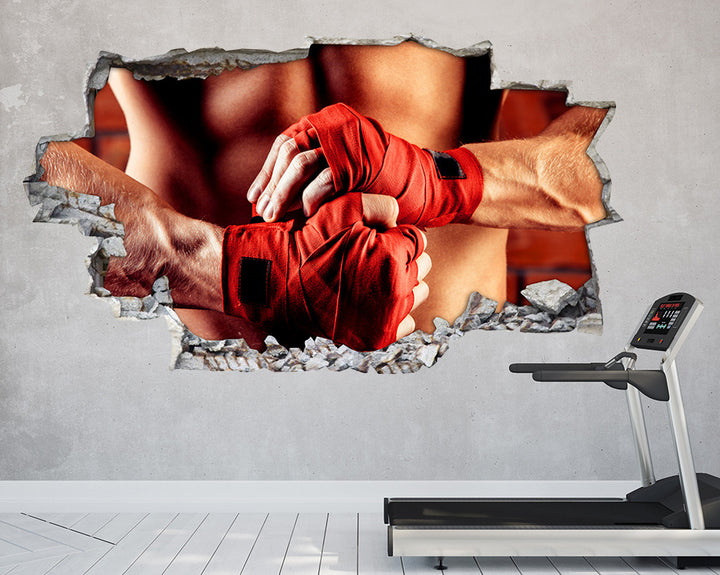 Red Gloves Fitness Gym Decal Vinyl Wall Sticker Q853