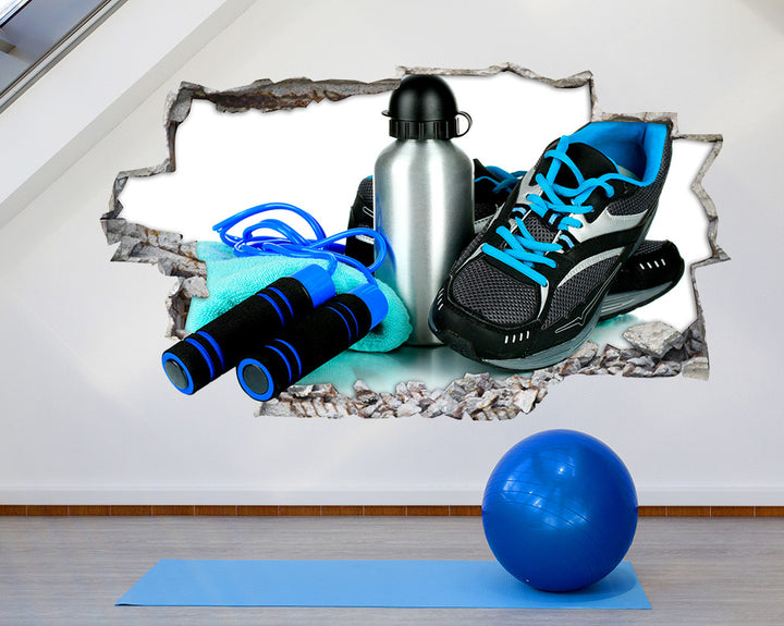 Skipping Trainers Gym Decal Vinyl Wall Sticker Q857