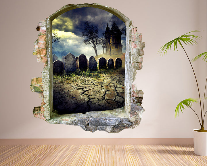 Graveyard Creepy Hall Decal Vinyl Wall Sticker Q868