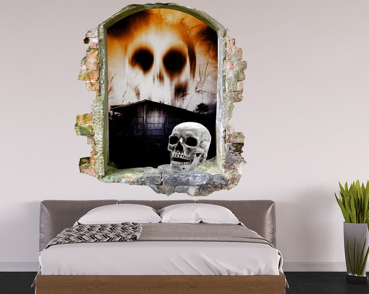 Skull Sky Bedroom Decal Vinyl Wall Sticker Q872