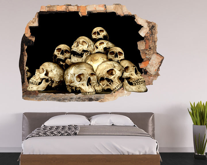 Skulls Collection Bedroom Decal Vinyl Wall Sticker Q878