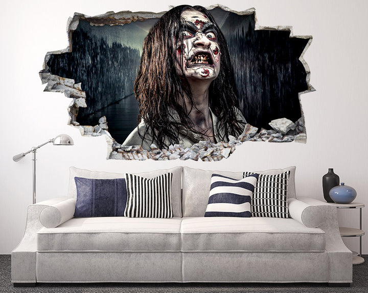Zombie Girl Living Room Decal Vinyl Wall Sticker Q883