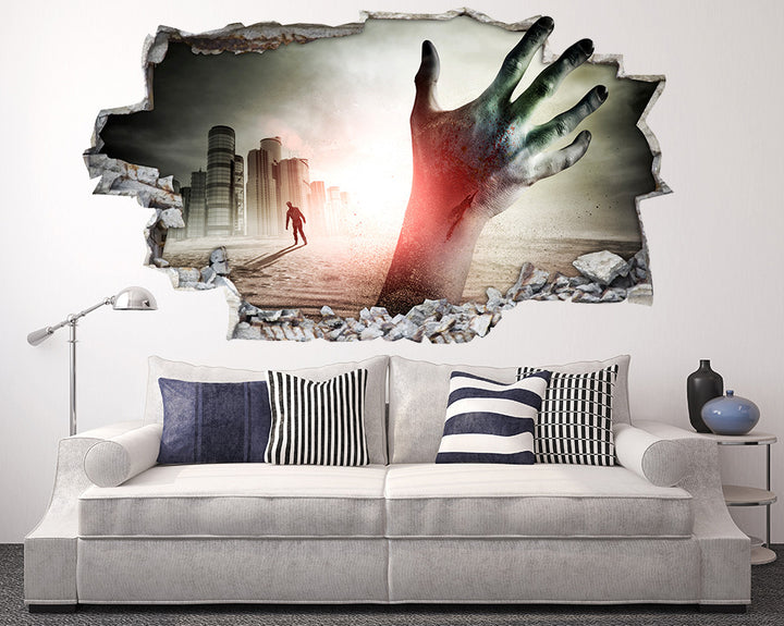 Zombie Arm Living Room Decal Vinyl Wall Sticker Q894