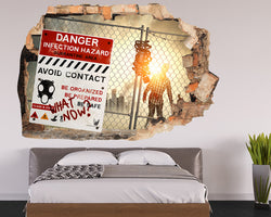 Zombie Apocalypse Bedroom Decal Vinyl Wall Sticker Q895