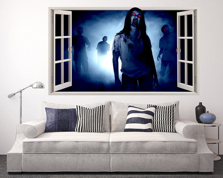 Red Eye Zombies Living Room Decal Vinyl Wall Sticker Q903