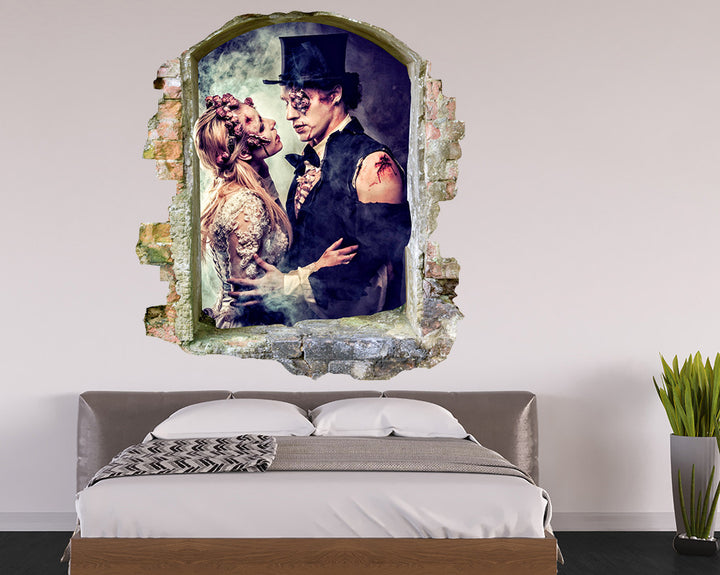 Zombie Bride Groom Bedroom Decal Vinyl Wall Sticker Q904