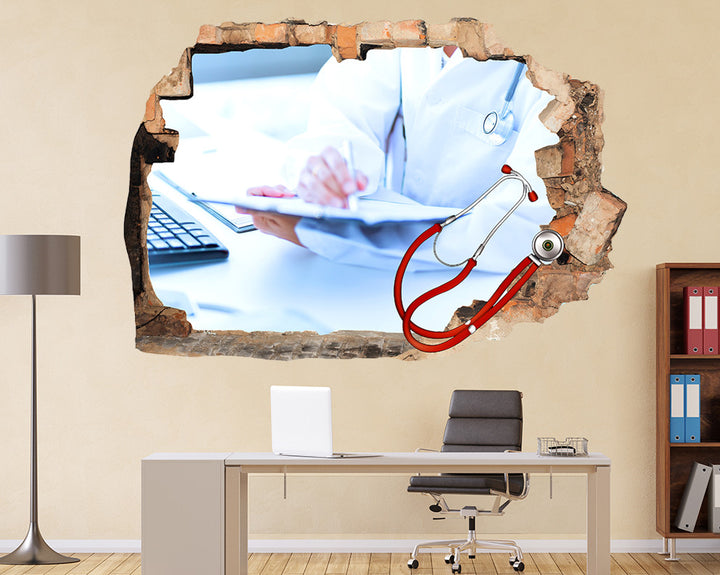 Doctor Nurse Sick Office Decal Vinyl Wall Sticker Q922