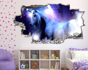Magical Mystical Unicorn Girls Bedroom Decal Vinyl Wall Sticker Q924