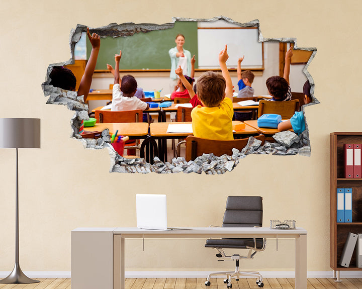 School Pupils Learn Classroom Decal Vinyl Wall Sticker Q929