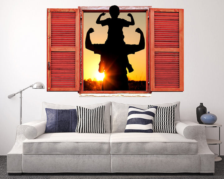 Family Silhouette Cute Living Room Decal Vinyl Wall Sticker Q967