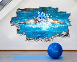 Swimming Sport Gym Decal Vinyl Wall Sticker Q987