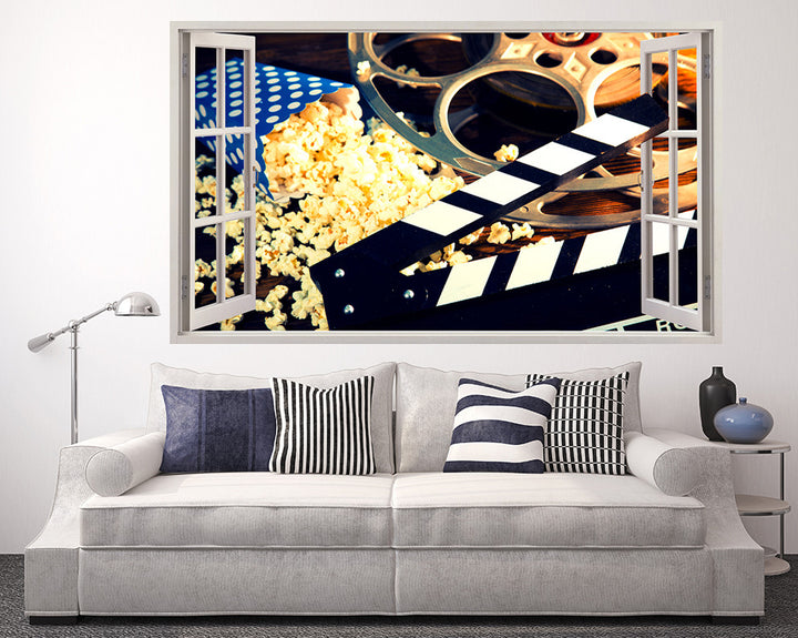 Film Movie Night Living Room Decal Vinyl Wall Sticker Q988