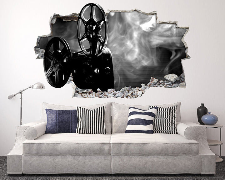 Cinema Camera Living Room Decal Vinyl Wall Sticker Q992
