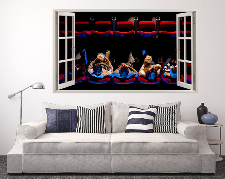 Cinema Audience Living Room Decal Vinyl Wall Sticker Q994
