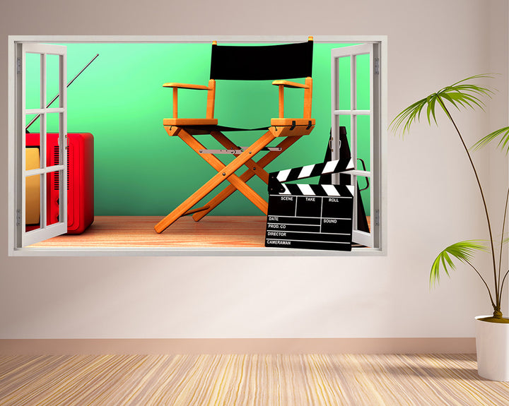 Film Director Chair Living Room Decal Vinyl Wall Sticker R004