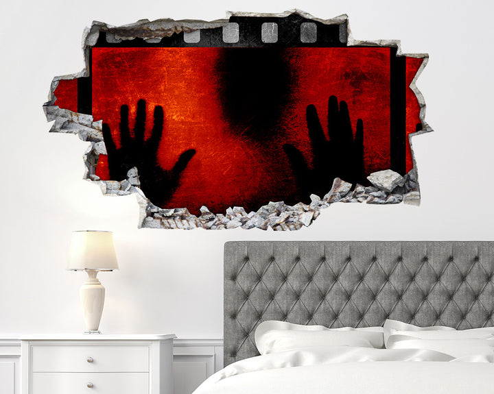Red Horror Film Bedroom Decal Vinyl Wall Sticker R008