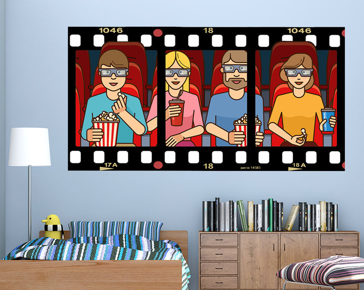 Animated Cinema Boys Bedroom Decal Vinyl Wall Sticker R012