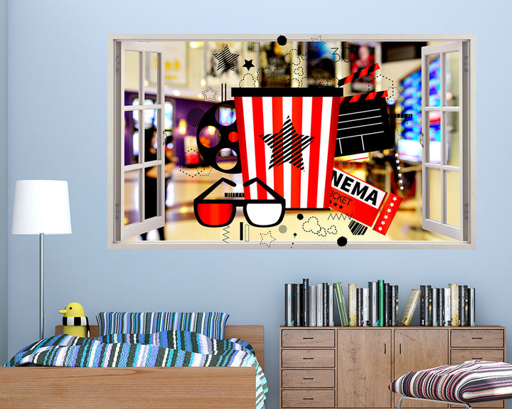 Cinema Pictures Boys Bedroom Decal Vinyl Wall Sticker R016