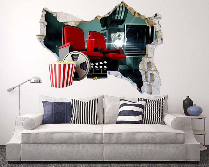 Cinema Screen Production Living Room Decal Vinyl Wall Sticker R020