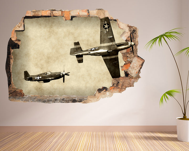 WW2 Army Airplanes Hall Decal Vinyl Wall Sticker R026