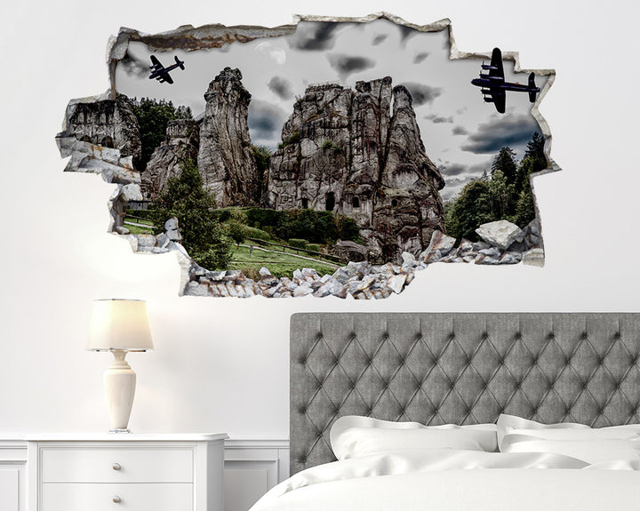 Scenic Army Planes Bedroom Decal Vinyl Wall Sticker R030