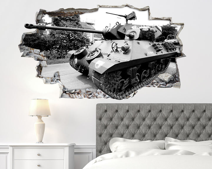 Army Tank Bedroom Decal Vinyl Wall Sticker R066