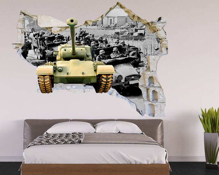 Army Tank Colour Bedroom Decal Vinyl Wall Sticker R067