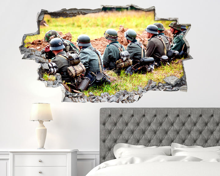 Army Trench Bedroom Decal Vinyl Wall Sticker R068