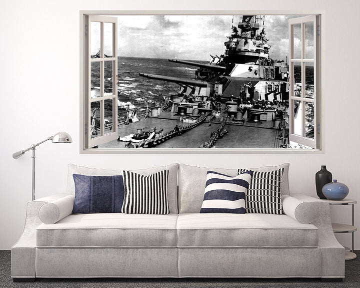 War Army Boat Gun Living Room Decal Vinyl Wall Sticker R070