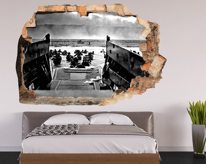 Boat Soldiers War Bedroom Decal Vinyl Wall Sticker R075