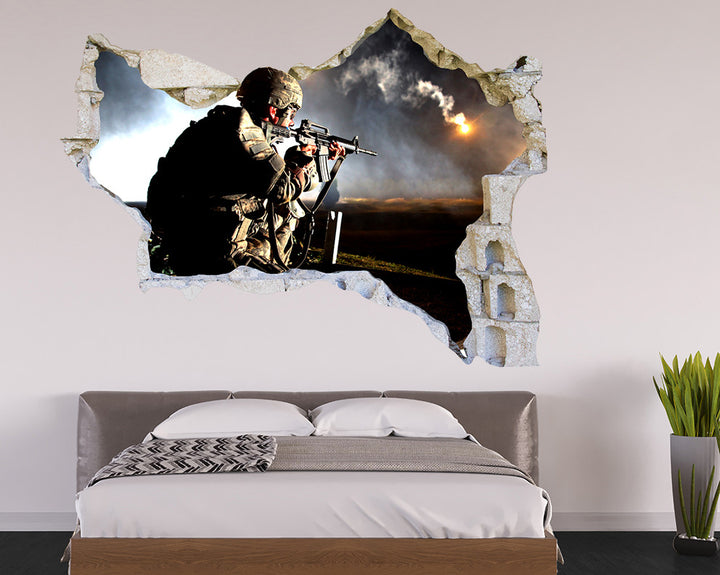 Soldier Aim Bedroom Decal Vinyl Wall Sticker R084
