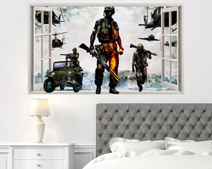 Cool Army Soldiers Bedroom Decal Vinyl Wall Sticker R087