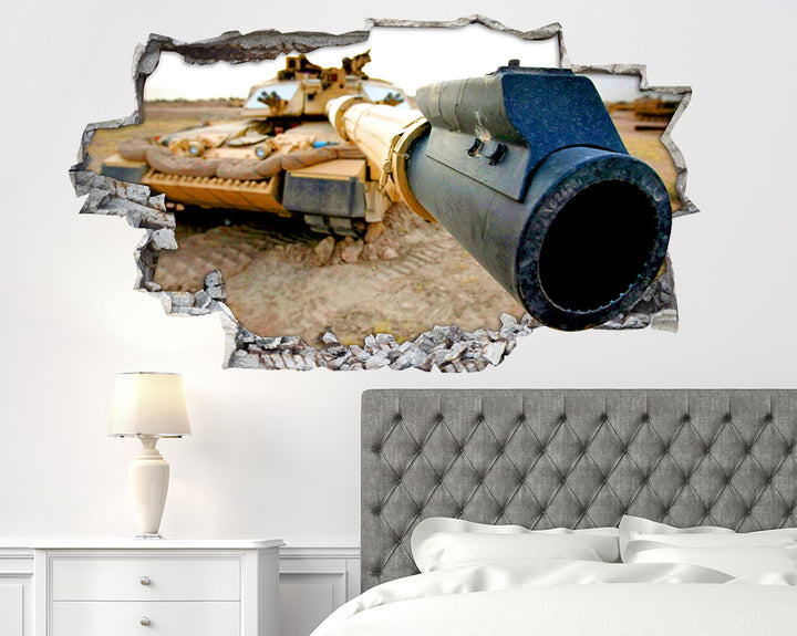 Army Tank Gun Bedroom Decal Vinyl Wall Sticker R092