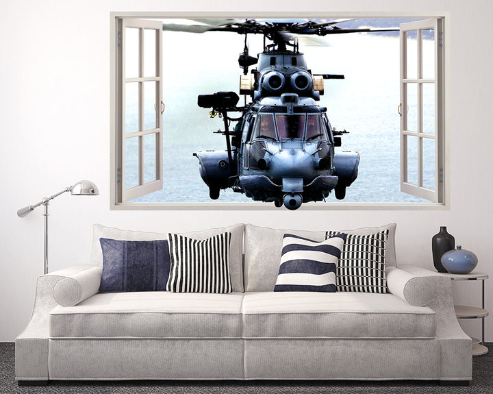 Army Soldier Helicopter Living Room Decal Vinyl Wall Sticker R093