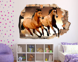 Brown Horse Girls Bedroom Decal Vinyl Wall Sticker R098