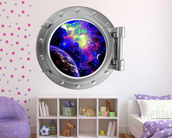 Cool Space Colours Girls Bedroom Decal Vinyl Wall Sticker R110