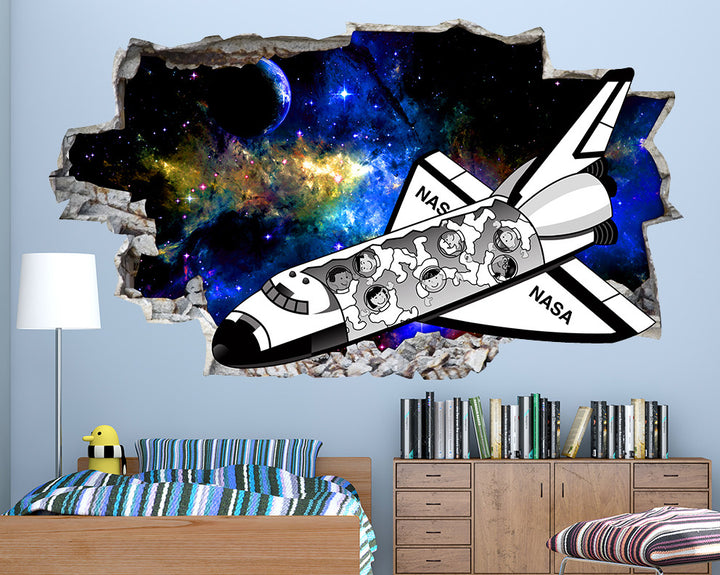 NASA Space Shuttle Boys Bedroom Decal Vinyl Wall Sticker R111