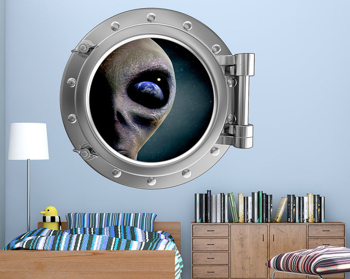 Alien Eye Earth Boys Bedroom Decal Vinyl Wall Sticker R125
