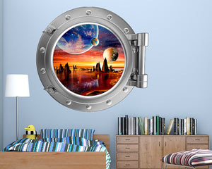 Galaxy Sunset Worldq Boys Bedroom Decal Vinyl Wall Sticker R140